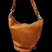 Vintage Leather Hobo Bucket Bag