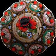 Vintage Micro Mosaic Brooch, Italy