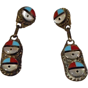 Vintage Zuni Sterling Earrings