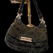 Vintage Coach Black C Logo Handbag