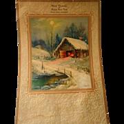 """Vintage Calendar Lithograph """" The Village Smithy"""""""