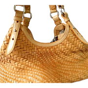 Vintage Woven Leather Handbag by Cole Haan