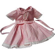 Vintage 12 inch Cotton Striped Doll Dress