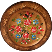 Hand Painted German Wooden Plate