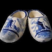 Porcelain Hand Painted Delft Shoes