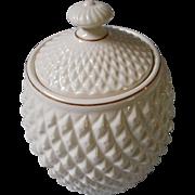 Biscuit Jar, Irish Belleek, Black Heritage Edition Mark