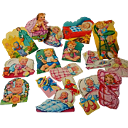 Vintage German Lithograph Baby Stickers