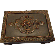 Antique Carved Wooden Box from France