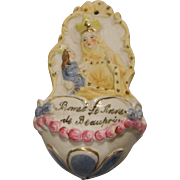 Bisque Holy Water Font, France - Red Tag Sale Item