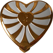 Vintage Heart Shaped Powder Compact