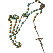 Vintage Rosary with Glass Beads