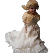 Rare Antique Bisque Doll, German Wiefel and Co.