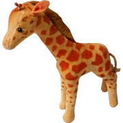 Velvet Plush Giraffe by Steiff