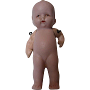 Vintage German Pink All Bisque Doll