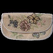 Vintage Handmade Beaded Handbag on Silk