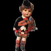 8 Inch Bisque Head Scottish Highlander by Recknagel