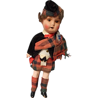8 Inch Bisque Head Scottish Highlander by Recknagel