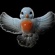 """Vintage Porcelain """"Pot Sitter"""" Bird"""