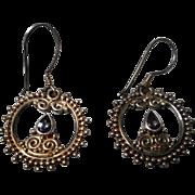 Vintage Sajen Sterling Earrings with Teardrop Amethyst
