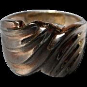 Sterling Modernist Design Ring