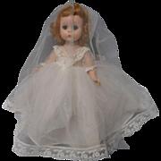Vintage 8 in. Alexander-kin Bride Doll
