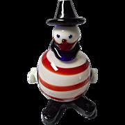 Vintage Hand Blown Art Glass Clown