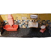 Vintage Doll House Bathroom, W.Germany