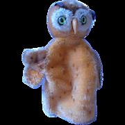 Steiff Owl Puppet, Germany, 1950's