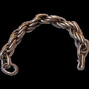 Vintage Heavy Link Sterling Bracelet