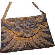 Vintage Metal Micro Beaded Purse