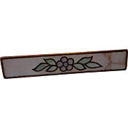 Vintage Enameled Bar Pin