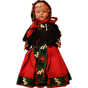 Vintage Celluloid Doll in Original Outfit, marked J.K. Koce