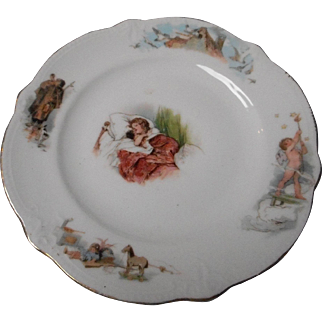 Vintage Porcelain Child's Plate