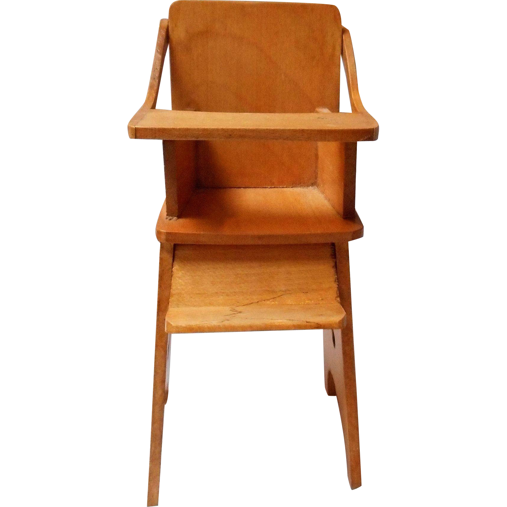 Vintage Solid Maple Doll House High Chair