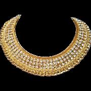 Vintage Rhinestone Bib Necklace
