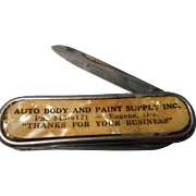 Vintage Advertising Pocket Knife, Colonial, Prov., RI
