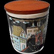 Vintage Schramberg Porcelain Jar with Lid