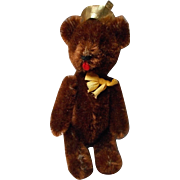 "Vintage Plush ""Yes-No"" Teddy Bear"