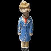"""Vintage """"Andy Gump"""" Porcelain German Nodder"""