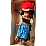 Vintage  German Doll, Original Costume and Box