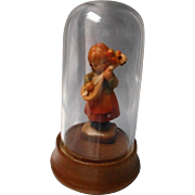 Vintage Wood Carved Miniature Anri Girl