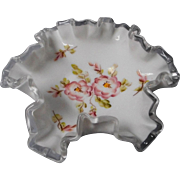 vintage Hand Painted Fenton Candy Dish