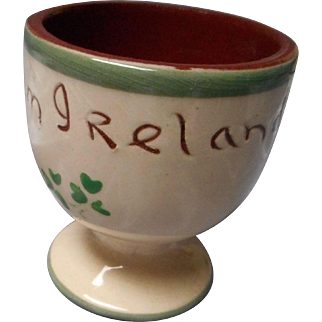 Red Clay Pottery Egg Cup, Ireland