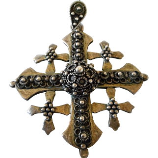 950 Jerusalem Intricate Maltese Cross Pendant