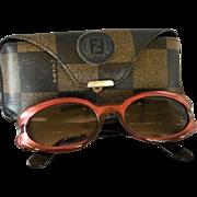 "Vintage Authentic ""Fendi"" Sunglasses and Case"