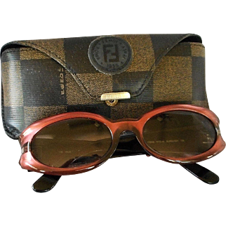 "Vintage Authentic ""Fendi"" Sunglasses and Case"