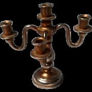 Vintage Brass Doll House Candelabra