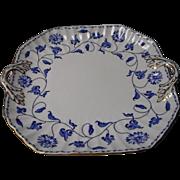 Vintage Spode Blue Colonel Square Platter