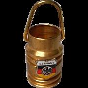 Miniature Brass Bucket with Germany Charm