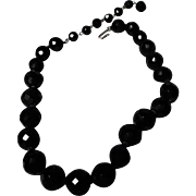 vintage Black Jet Beads by Hobe